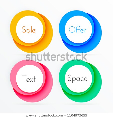 coloful circle frames with copyspace Stock photo © SArts