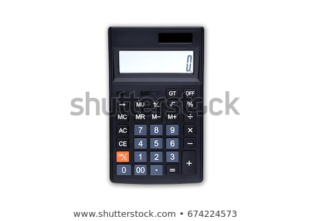 Gray calculator isolated on white Stock photo © kravcs