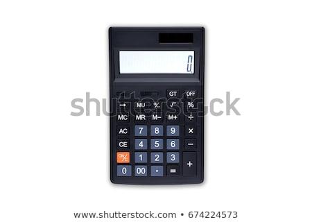 Grijs calculator geïsoleerd witte financieren Stockfoto © kravcs