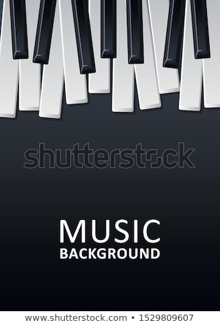 Jazz festival de musique flyer design piano clavier Photo stock © articular