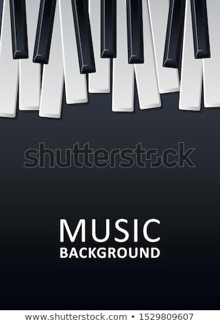 jazz · muziekfestival · flyer · ontwerp · piano · toetsenbord - stockfoto © articular
