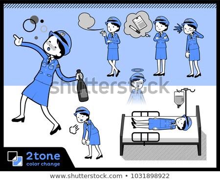 Rendőrség 10 nők egészség kórház Stock fotó © toyotoyo