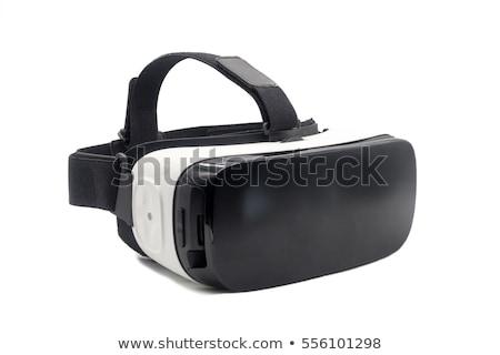 виртуальный реальность очки шлема Поп-арт ретро Сток-фото © studiostoks