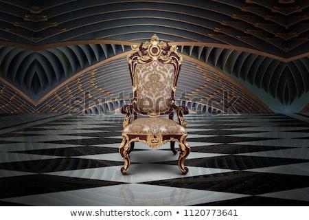 Rood goud luxe fauteuil oude kamer Stockfoto © alphaspirit