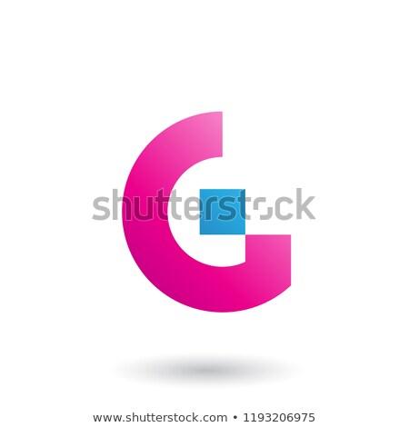 Magenta rettangolare forme vettore illustrazione Foto d'archivio © cidepix