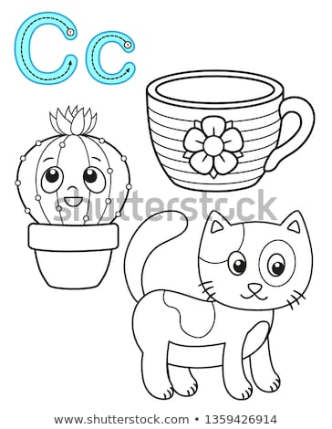 Spell English word cactus Stock photo © bluering