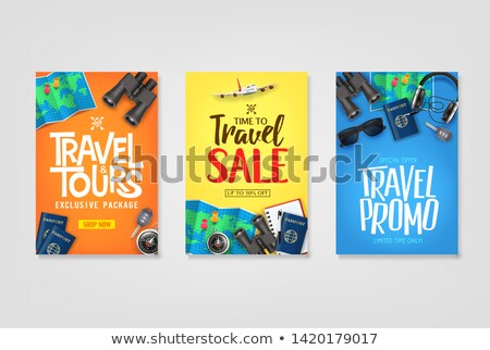 enjoy summer poster items set vector illustration stock photo © robuart