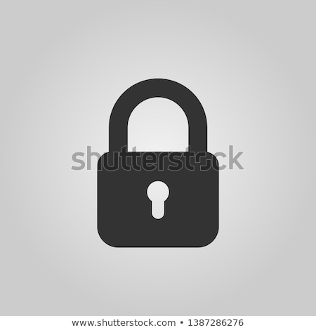 vetor · combinação · cadeado · ícone · cromo · azul - foto stock © smoki