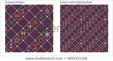 Violet vector oneindig patroon christmas iconen Stockfoto © blumer1979