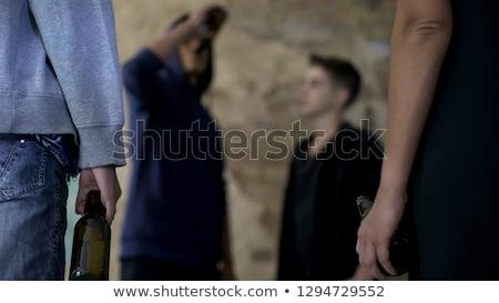 grupo · adolescente · gangster · ilustración · ciudad · moda - foto stock © bluering