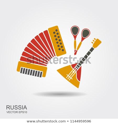 Accordeon ingesteld russisch muziekinstrument zoete snoep Stockfoto © robuart