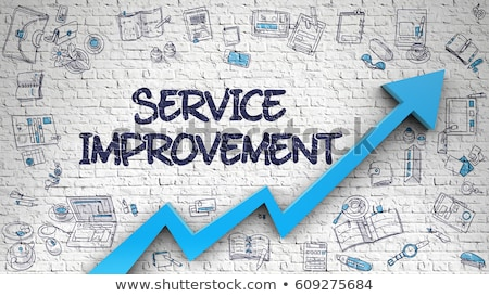 Stock photo: Customer Service Drawn on White Wall. 3d.