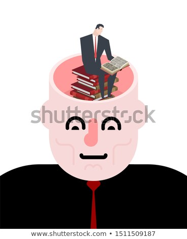 オープン 頭 ビジネスマン 図書 実例 ストックフォト © MaryValery