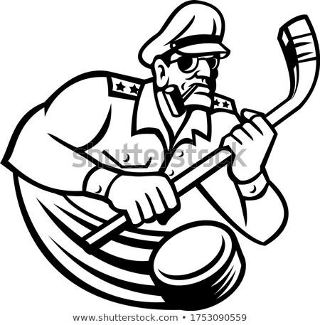 army general ice hockey sports mascot stock photo © patrimonio