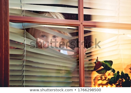 mother and toddler son looking out window outside Stock photo © Lopolo
