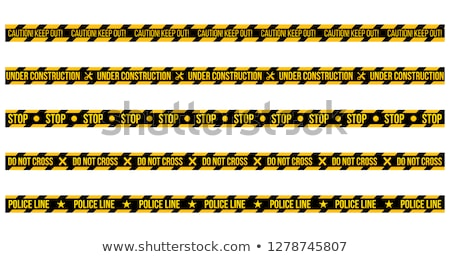 vector set of caution tapes on whit e background illustration consists of caution keep out do not stock photo © kyryloff