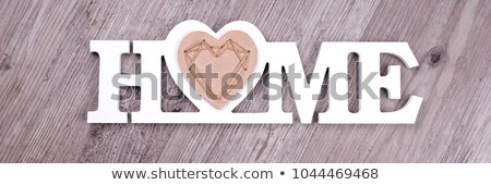 Wooden letters forming word HOME Stock photo © Lana_M