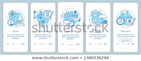 Negócio aplicativo interface modelo companhia gestão Foto stock © RAStudio