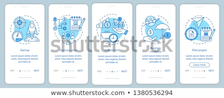 бизнеса приложение интерфейс шаблон компания управления Сток-фото © RAStudio
