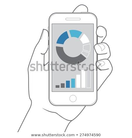 shopping on smart phone hand drawn outline doodle icon stock photo © rastudio