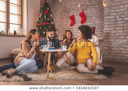merry christmas winter holidays celebration people stock photo © robuart