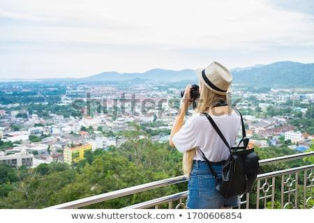Foto stock: Alto · ver · phuket · ponto · colina · Tailândia