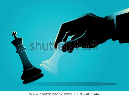King Versus Pawn Stock photo © limbi007
