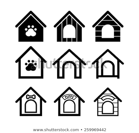 vector set of dog house Stock photo © olllikeballoon