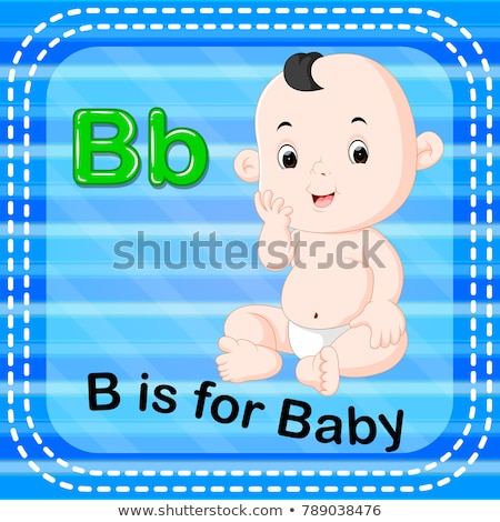 Boy and flashcard for letter B Stock photo © colematt