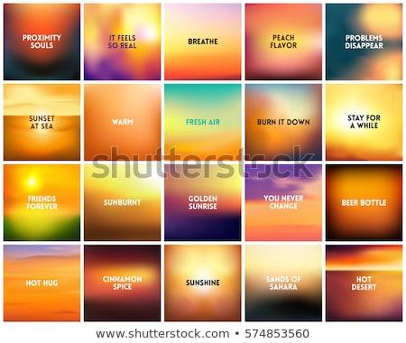 bright yellow sunrise and sunset set stock photo © netkov1