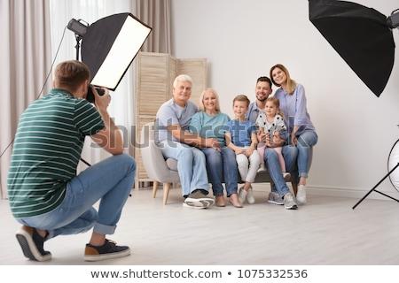 foto · estúdio · equipamentos · de · iluminação · vetor · desenho · animado · ilustração - foto stock © robuart