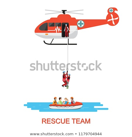rescue helicopter vector illustration Stock photo © konturvid
