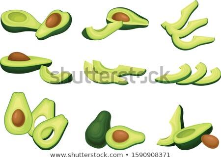 Avocado and slice illustration Stock photo © ConceptCafe