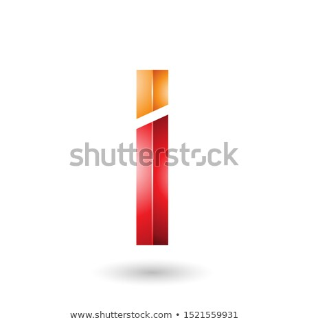 Red and Orange Rectangular Glossy Letter I Stock photo © cidepix