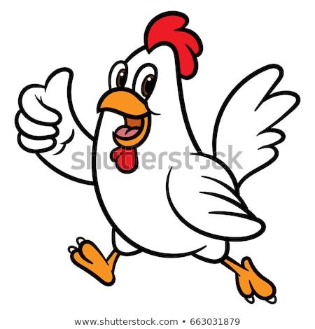 куриные Cartoon петух характер талисман Сток-фото © Krisdog