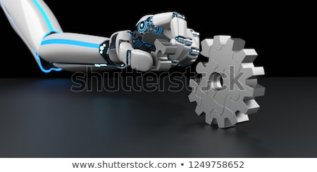 гуманоид робота Gear колесо головоломки рук Сток-фото © limbi007