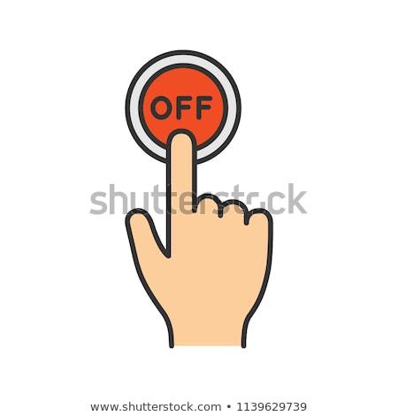手 マウス カーソル ターン オフ 電源 ストックフォト © kyryloff
