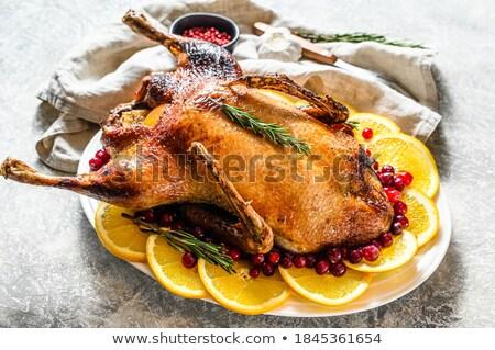 knapperig · gans · plaat · witte · voedsel - stockfoto © saphira