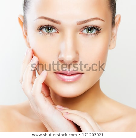 Emotion of the beautiful woman with natural make up Stock photo © Pilgrimego