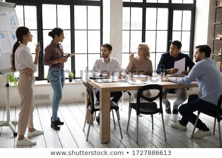 Gens d'affaires travaux idées bord personnes Photo stock © robuart