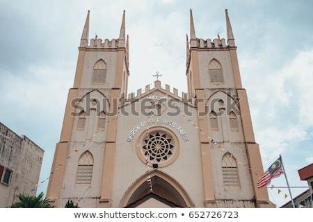 kilise · belediye · binası · kare · ağaç · kış - stok fotoğraf © borisb17