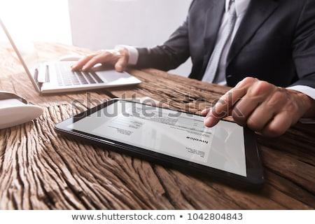 Empresário comprimido mão secretária Foto stock © AndreyPopov