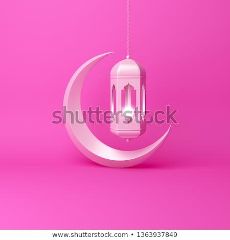 iszlám · arab · akasztás · lámpák · ramadán · illusztráció - stock fotó © sarts