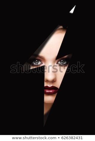mooie · vrouwelijke · lippen · heldere · Rood - stockfoto © serdechny