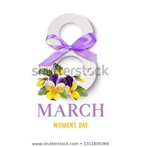 Stockfoto: Violet · internationale · dag · vector · wenskaart · ingericht