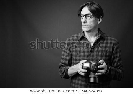 Nerd man denken licht grijs digitale composiet Stockfoto © wavebreak_media