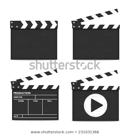 Movie Clapper with Stripes, Film Industry Vector Stock photo © robuart