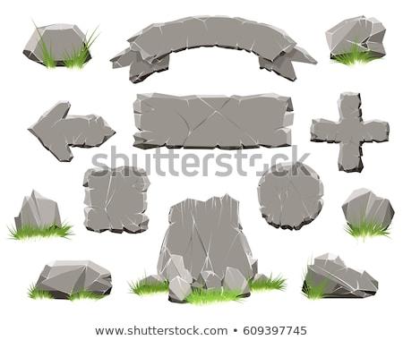 Stone Rock Decorative Element Color Vector Stock photo © pikepicture