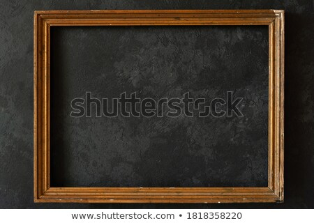 prémium · arany · üres · keret · fekete · márvány - stock fotó © sarts