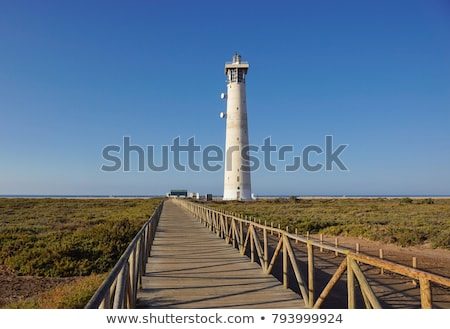 Világítótorony kanári sziget tengerpart víz tájkép Stock fotó © hamik